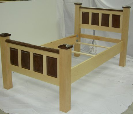 Raised Panel Twin Bed by Wood Concepts
